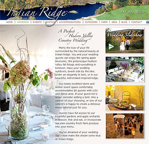 screenshot of Indian Ridge website