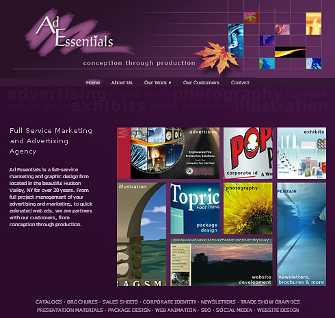 Ad Essentials website screenshot