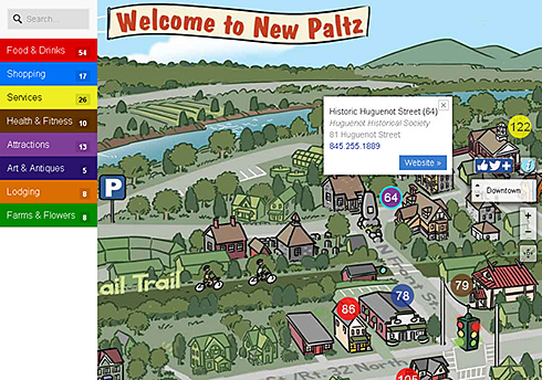 Best of Your Town Interactive map of New Paltz NY - screenshot