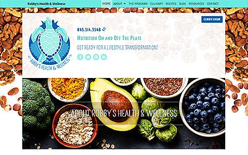 screenshot of Robby's Health and Wellness website